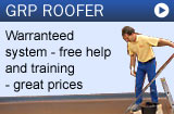 Fibreglass roofing materials and warranty for GRP Roofing Contractor